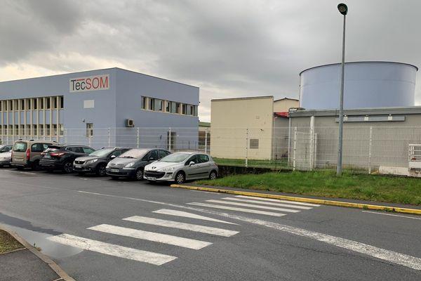 Les locaux de Tecsom, dans la zone industrielle de Glaire, près de Sedan.