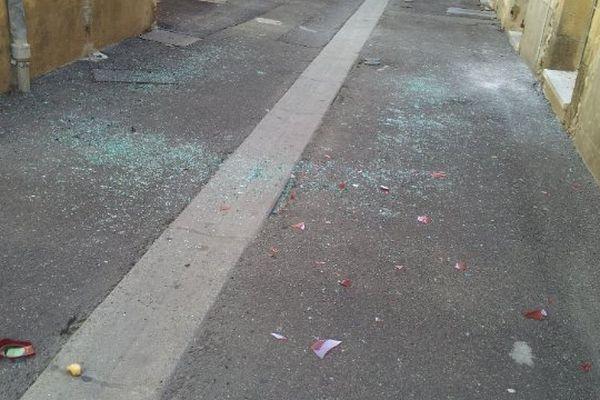 Roquemaure (Gard) - une rue de la ville après la rixe - 27 juillet 2014.