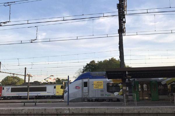 Des trains TER (Trains Express Régionaux) à la gare de Dijon