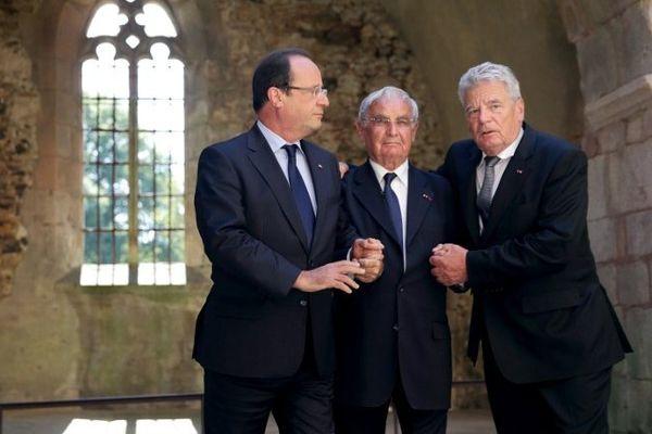 François Hollande, Robert Hébras et Joachim Gauck