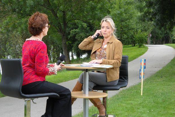 Sylvie Denis et Isabelle Longuet, directrice de la mission Val-de-Loire.