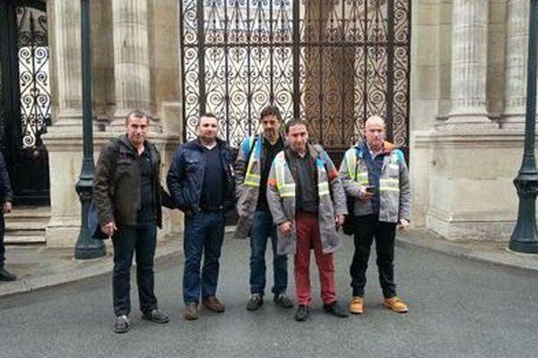 La délégation GM&S à l'Elysée.