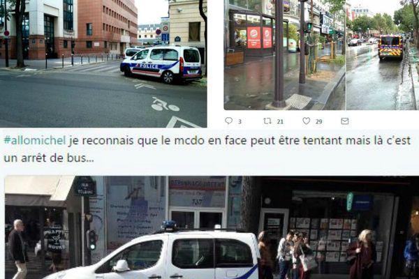 Un hashtag pour dénoncer les voitures de police qui gênent la circulation.