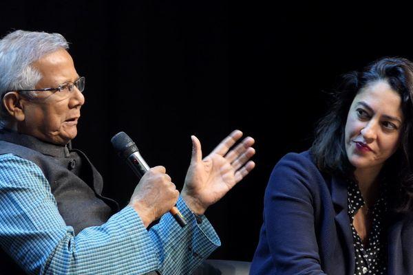 Muhammad Yunus était à Dijon, mercredi 6 mars, pour une conférence au palais des Congrès