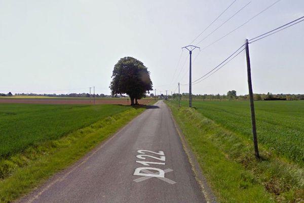 La départementale 122 à Sainte-Gemme (17)