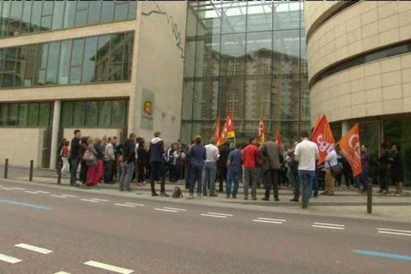 Manifestation des agents territoriaux à Rouen mardi 28 juin devant le conseil régional à Rouen
