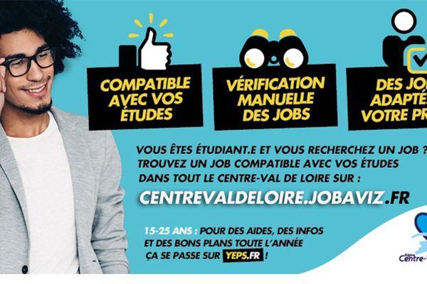 JOBAVIZ, une nouvelle plateforme en Centre-Val-de-Loire, dédiée à l'emploi des étudiants