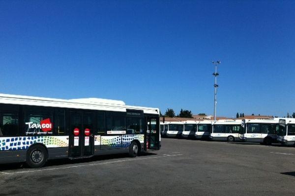 Les bus nîmois resteront au dépôt entre 9 et 11heures et de 14 h 30 à 16 h 30
