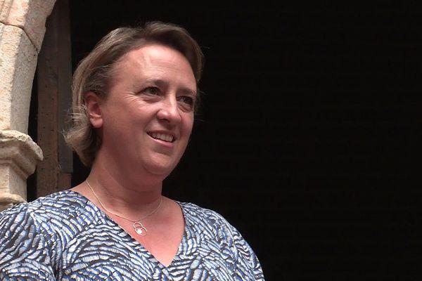 Stéphanie Guiraud-Chaumeil, dimanche 28 juin, à l'énoncé du résultat des élections municipales.