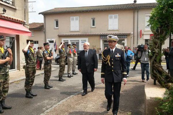Jean-Marc Todeschini,  Secrétaire d'État chargé des Anciens Combattants et de la Mémoire, président les cérémonies d'Oradour
