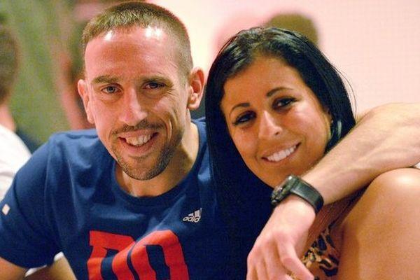 Franck et Wahiba Ribéry en 2012.