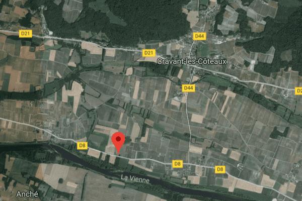 Cravant, près de Chinon en Indre et Loire