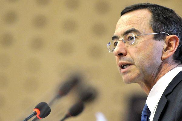 Bruno Retailleau lors de son élection à la tête de la région des Pays de la Loire, le 18 décembre 2015