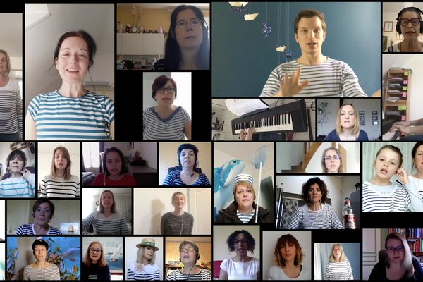Trente choristes ont participé à la chorale virtuelle initiée par Damien Briand, conseiller pédagogique de la Marne
