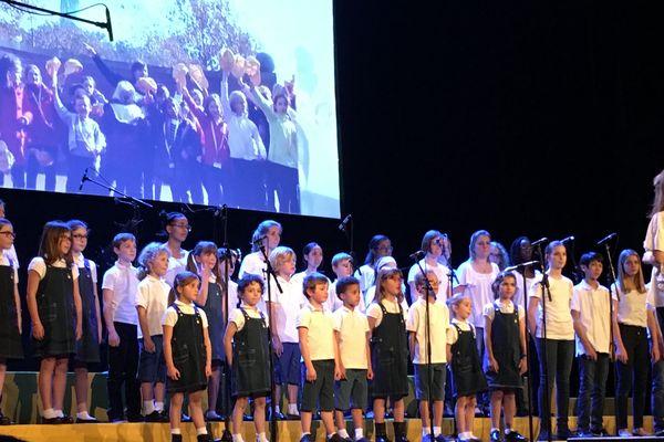 Concert de la chorale Les Mirabelles, samedi 15 décembre 2018, salle Poirel à Nancy (Meurthe-et-Moselle).