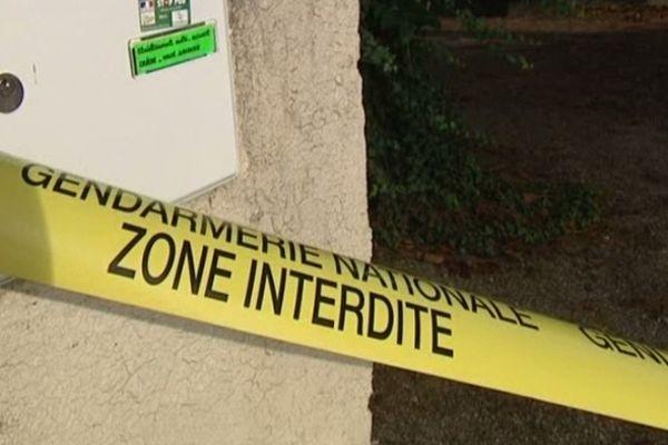 Montady (Hérault) - zone sécurisée où la rixe mortelle s'est produite - 8 octobre 2012