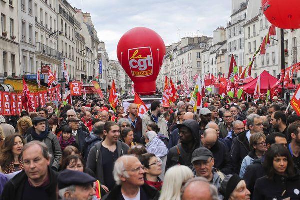 Défilé du 1er Mai 2014 a Paris.