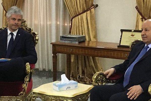 Aux cotés du Premier Ministre irakien, Laurent Wauquiez travaille sa stature internationale / © Sylvie Cozzolino/Thierry Swidersky