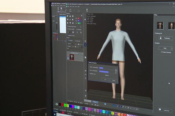 Modélisation 3D d'un pull sur un ordinateur