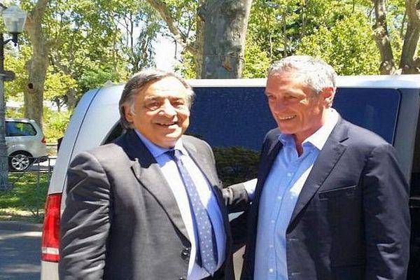 Montpellier - Philippe Saurel accueille Leoluca Orlando le maire de Palerme - 4 juillet 2016.