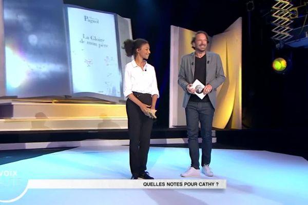 L'émotion de Cathy Mvogo, aux côtés de François Busnel, de la grandelibrairie