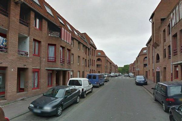 Rue Archimède à Roubaix, dans le quartier de l'Alma