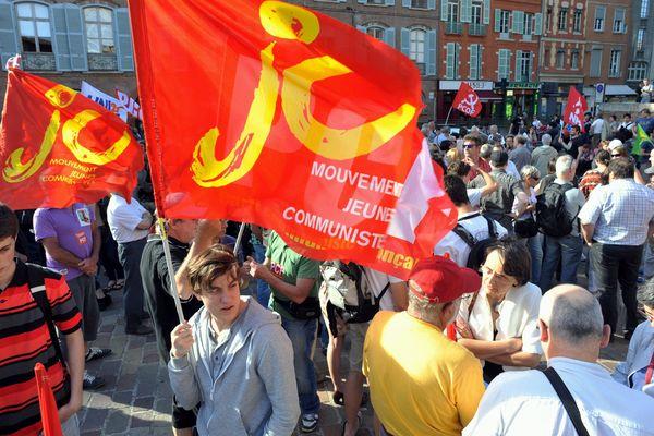 Une manifestation des jeunesses communistes en 2013 à Toulouse. Photo d'illustration.