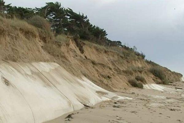 Un exemple de dune érodée