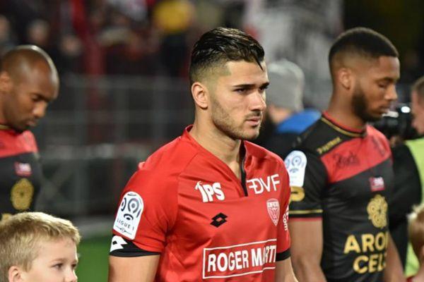 Mehdi Abeid (DFCO) lors du match aller contre Guingamp (3-3), le 5 novembre 2016.