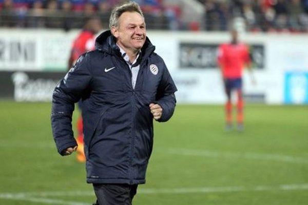 L'entraîneur de Montpellier Frédéric Hantz - 30 janvier 2016