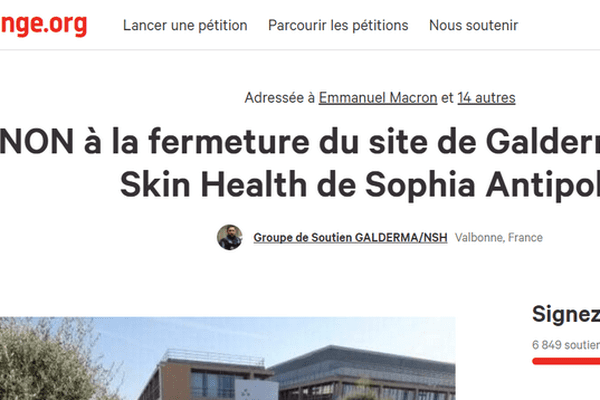 Une pétition pour demander le maintien du site sur Sophia-Antipolis