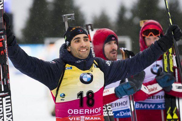 Le Catalan Martin Fourcade remporte la 4e étape de la Coupe du Monde de Biathlon ce 5 janvier 2018 en Allemagne