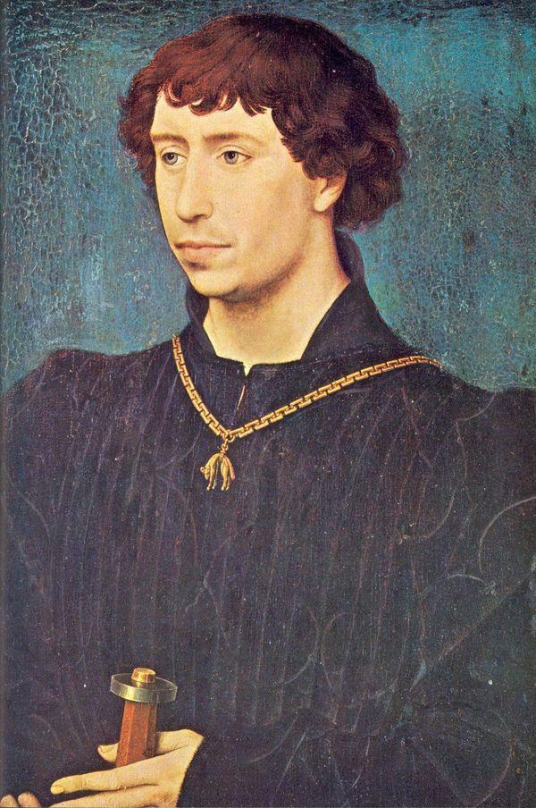 Portrait de Charles le Téméraire, peint en 1454.