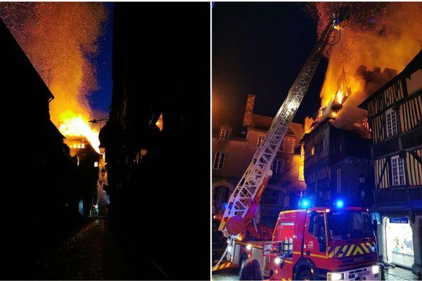 """Les flammes ont ravagé le bâtiment qui abritait le restaurant """"Chez la Mère Pourcel"""""""