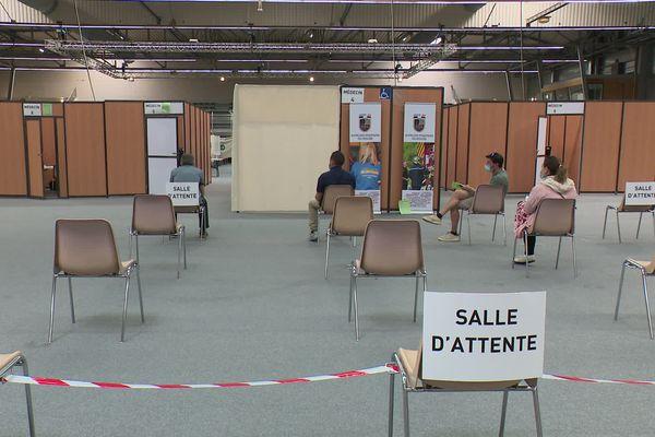 Le centre de vaccination de Besançon Micropolis a ouvert le 31 mai.