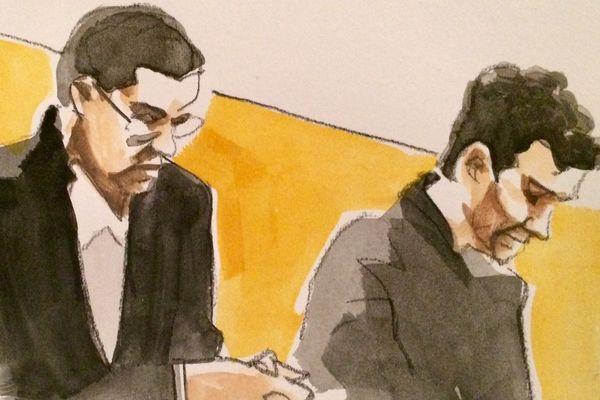 Zak (à gauche) et Taha, les deux accusés au procès du meurtre d'Eva Bourseau