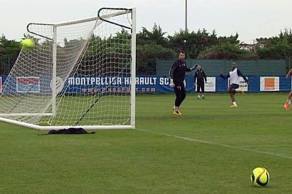 Montpellier - le MHSC à l'entraînement au centre de Grammont - 21 avril 2016.