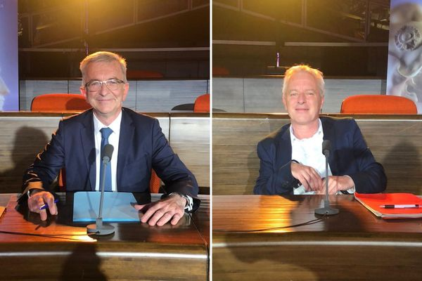 François Bonneau et Charles Fournier lors du débat des régionales le 9 juin.