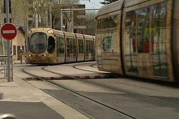 Montpellier - la ligne 4 de tramway mise en service en avril 2012.
