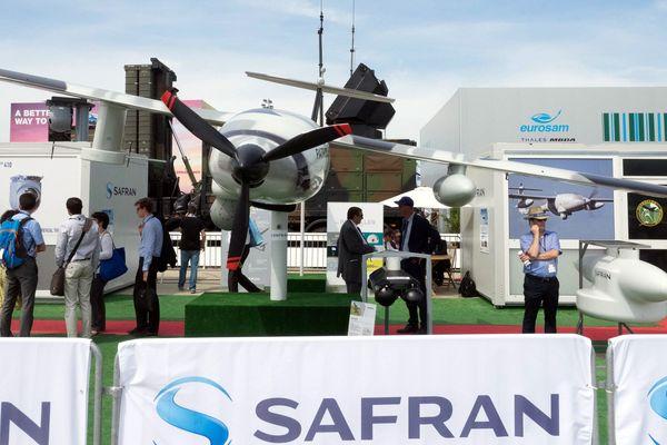 Le drone Patroller présenté lors du salon de l'aéronautique du Bourget en juin dernier.  Industries GIFAS.Parc des Expositions du Bourget on June 19 2019