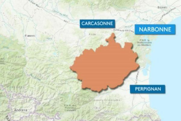 Les contours du parc naturel régional des Corbières-Fenouillèdes.