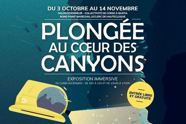 L'exposition se déroule dans les locaux de la Collectivité de Corse à Bastia.