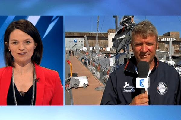 Yann Eliès, en duplex du port de Lorient, interviewé par Virginie Charbonneau, le 19 avril 2016.