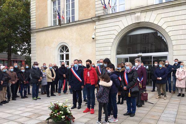 Hommage à Samuel Paty, le 21 octobre 2020, à Châteaubriant