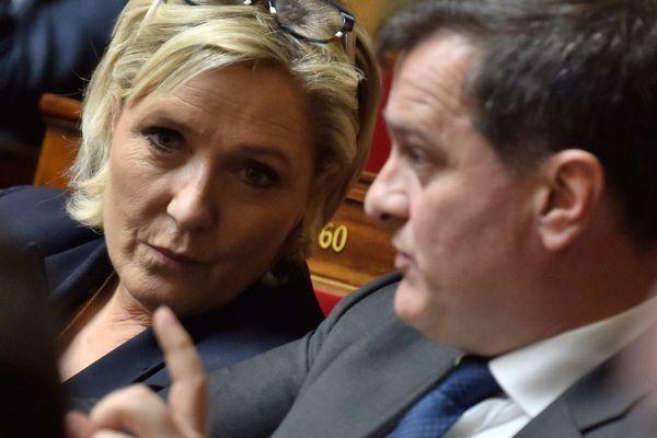 Marine Le Pen et Louis Aliot en mars 2018