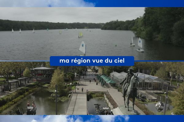 l'Erdre et la place Napoléon à la Roche-sur-Yon