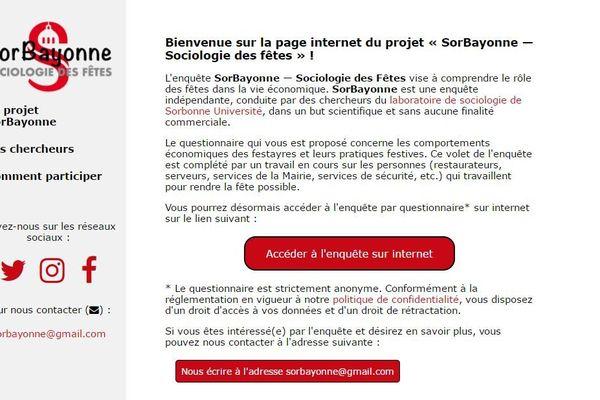 Sur le site sorbayonne.fr, les festayres peuvent répondre à un questionnaire.