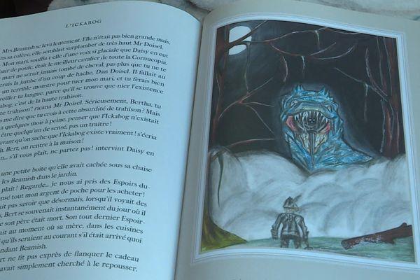 """Le dessin de Méloée publiée dans """"L'Ickabog"""" de J.K Rowling."""