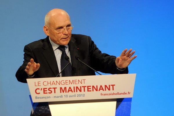 Claude Jeannerot, président du conseil général du Doubs lors de la campagne présidentielle de François Hollande en avril 2012
