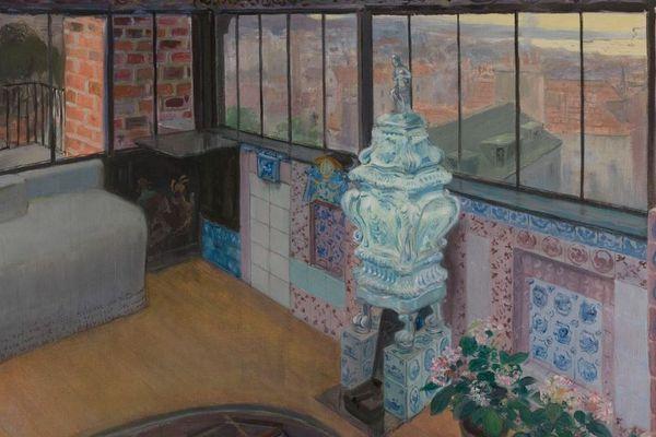 """Pierre Georges Jeanniot (1848-1934). """"Le Look-out à Hauteville House"""". Huile sur toile. 1896. Paris, Maison de Victor Hugo."""